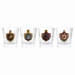 WARHAMMER GLASS TUMBLERS (SET OF 4) - CHAPTER