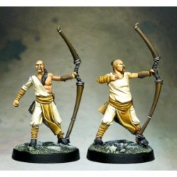Lot2: 2 miliciens archers (plastique)