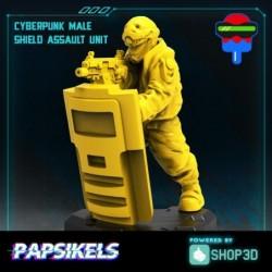 Cyberpunk Male Shield...