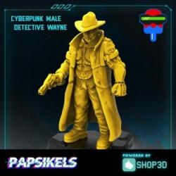Cyberpunk Male Detective Wayne