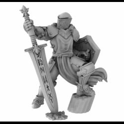 Helmed Paladin With Sword