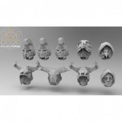 Minoan Priest Head 9 Pack